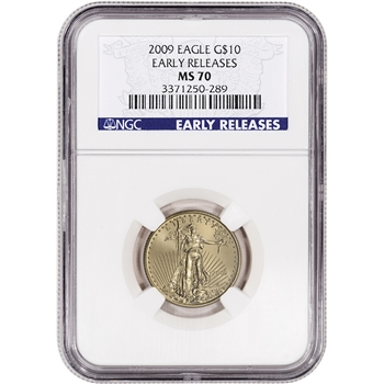 2009 American Gold Eagle (1/4 oz) $10 - NGC MS70 - Early Releases