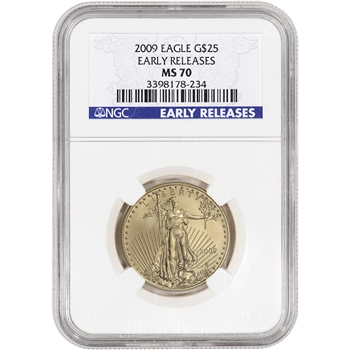 2009 American Gold Eagle (1/2 oz) $25 - NGC MS70 - Early Releases