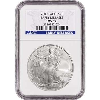 2009 American Silver Eagle - NGC MS69 - Early Releases