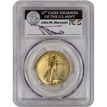 2009 US Gold $20 Ultra High Relief Double Eagle - PCGS MS69 Mercanti Signed