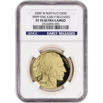 2009-W American Gold Buffalo Proof (1 oz) $50 - NGC PF70 UCAM Early Releases