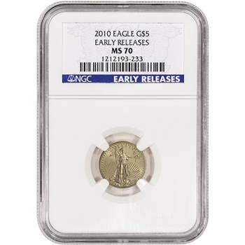 2010 American Gold Eagle (1/10 oz) $5 - NGC MS70 - Early Releases