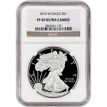 2010-W American Silver Eagle Proof - NGC PF69UCAM