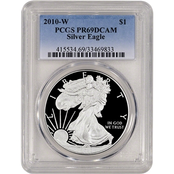 2010-W American Silver Eagle Proof - PCGS PR69DCAM