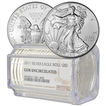 Roll of 20 - 2011 American Silver Eagle - NGC Gem Uncirculated