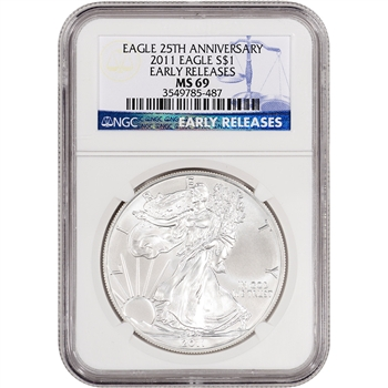2011 American Silver Eagle - NGC MS69 - Early Releases