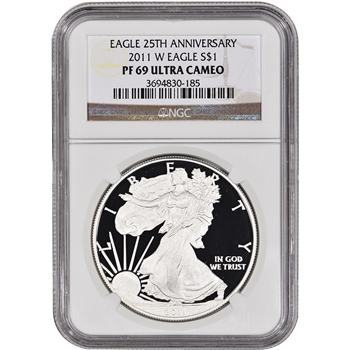 2011-W American Silver Eagle Proof - NGC PF69UCAM