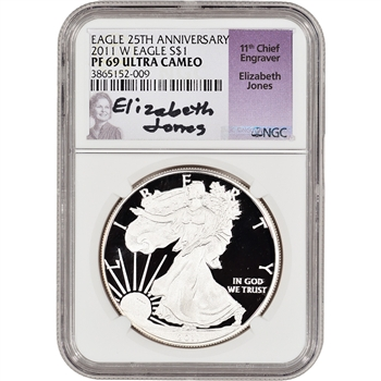 2011-W American Silver Eagle Proof - NGC PF69 UCAM - Jones Signed