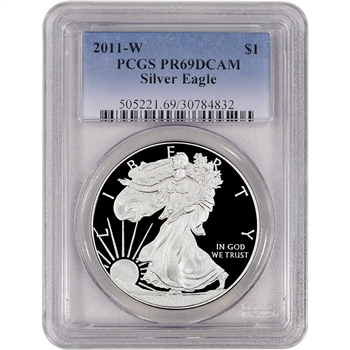2011-W American Silver Eagle Proof - PCGS PR69DCAM