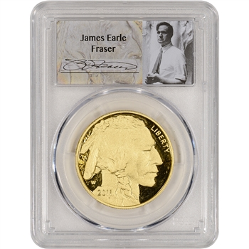 2011-W American Gold Buffalo Proof (1 oz) $50 - PCGS PR70 DCAM - Fraser Label
