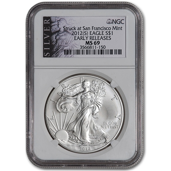 2012-(S) American Silver Eagle - NGC MS69 - Early Releases - SILVER Label