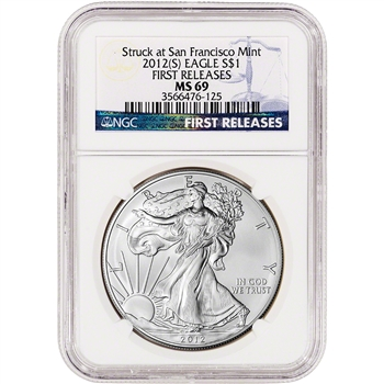 2012-(S) American Silver Eagle - NGC MS69 - First Releases