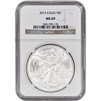 2012 American Silver Eagle - NGC MS69