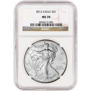 2012 American Silver Eagle - NGC MS70