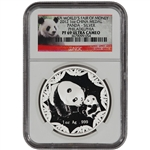 2012 China Silver Panda (1 oz) Medal - ANA World's Fair of Money - NGC PF69UCAM