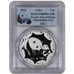 2012 China Silver Panda (1 oz) Medal - ANA World's Fair of Money - PCGS PR69DCAM