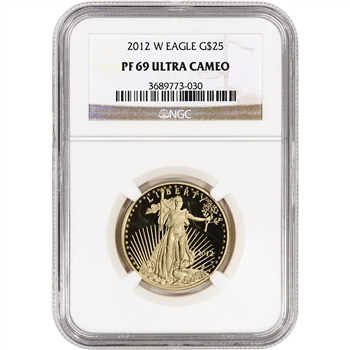 2012-W American Gold Eagle Proof (1/2 oz) $25 - NGC PF69UCAM