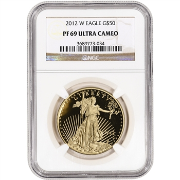 2012-W American Gold Eagle Proof (1 oz) $50 - NGC PF69UCAM