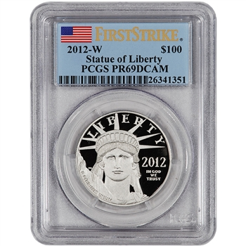 2012-W American Platinum Eagle Proof (1 oz) $100 - PCGS PR69DCAM First Strike