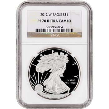 2012-W American Silver Eagle Proof - NGC PF70UCAM