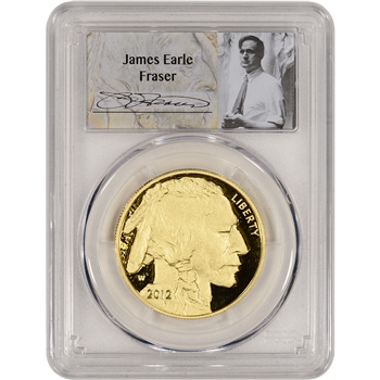 2012-W American Gold Buffalo Proof (1 oz) $50 - PCGS PR70 DCAM - Fraser Label
