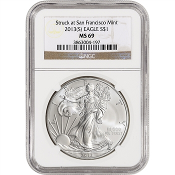2013-(S) American Silver Eagle - NGC MS69