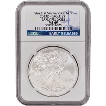 2013-(S) American Silver Eagle - NGC MS69 - Early Releases