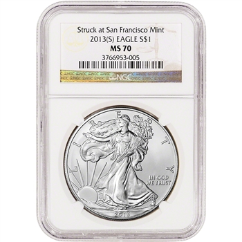 2013-(S) American Silver Eagle - NGC MS70