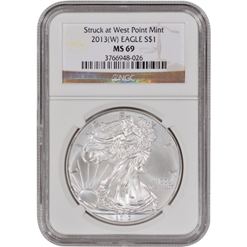 2013-(W) American Silver Eagle - NGC MS69