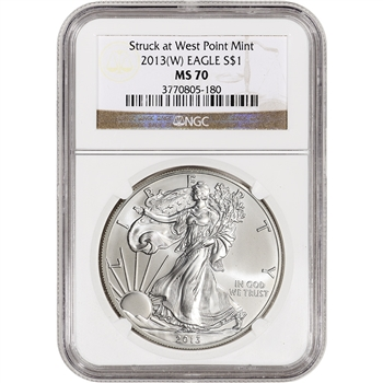 2013-(W) American Silver Eagle - NGC MS70