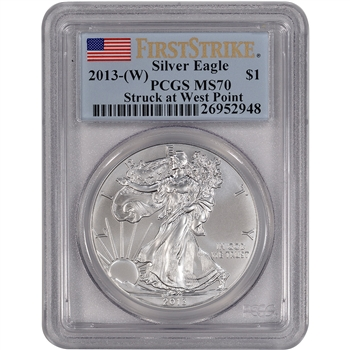 2013-(W) American Silver Eagle - PCGS MS70 - First Strike