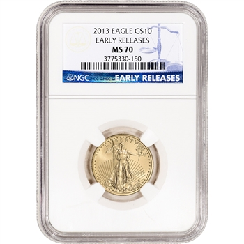 2013 American Gold Eagle (1/4 oz) $10 - NGC MS70 - Early Releases