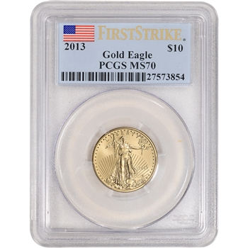2013 American Gold Eagle (1/4 oz) $10 - PCGS MS70 - First Strike