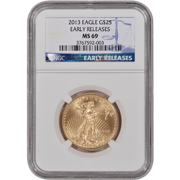 2013 American Gold Eagle (1/2 oz) $25 - NGC MS69 - Early Releases