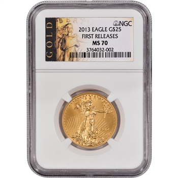 2013 American Gold Eagle (1/2 oz) $25 - NGC MS70 - First Releases - Gold Label
