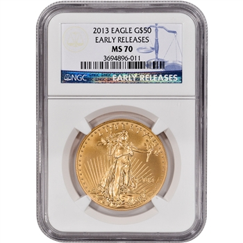 2013 American Gold Eagle (1 oz) $50 - NGC MS70 - Early Releases