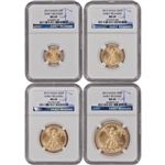 2013 American Gold Eagle 4-pc Year Set - NGC MS69 - Early Releases