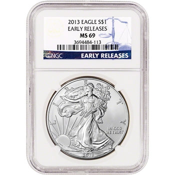 2013 American Silver Eagle - Certified NGC MS69 - Early Releases
