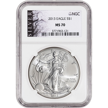 2013 American Silver Eagle - NGC MS70 - ALS Label