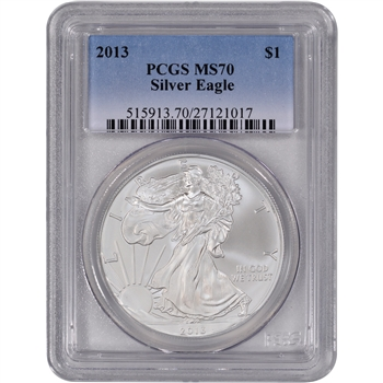 2013 American Silver Eagle - Certified PCGS MS70