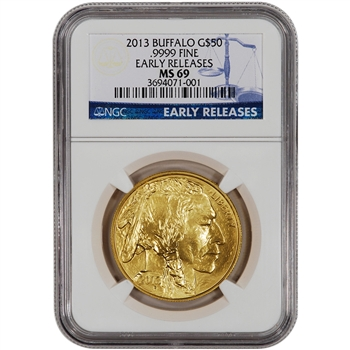 2013 American Gold Buffalo (1 oz) $50 - NGC MS69 - Early Releases
