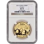 2013 China Gold Panda (1 oz) 500 Yuan - NGC MS70