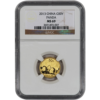 2013 China Gold Panda (1/10 oz) 50 Yuan - NGC MS69
