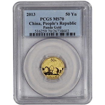 2013 China Gold Panda (1/10 oz) 50 Yuan - PCGS MS70