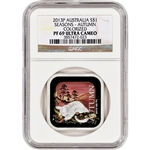 2013-P Australia Silver 'Australian Seasons' Proof $1 - Autumn - NGC PF69 UCAM