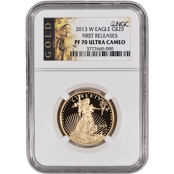 2013-W American Gold Eagle Proof (1/2 oz) $25 - NGC PF70 UCAM - First Releases