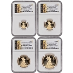 2013-W American Gold Eagle Proof  4-pc Year Set - NGC PF70UCAM - First Releases