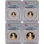 2013-W American Gold Eagle Proof  4-pc Year Set - PCGS PR69DCAM - First Strike