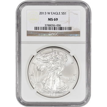 2013-W American Silver Eagle - Uncirculated Collectors Burnished - NGC MS69