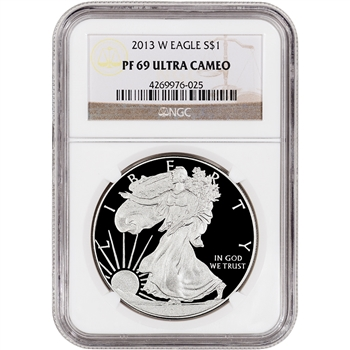 2013-W American Silver Eagle Proof - NGC PF69UCAM